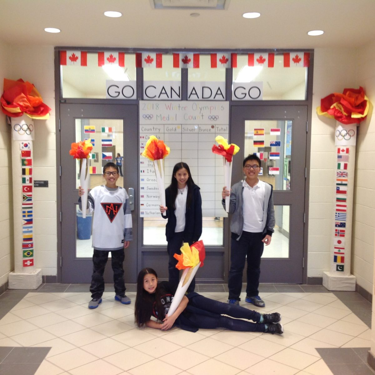 San Lorenzo Ruiz students join in on the Olympic Fun!